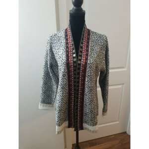 Soft Surroundings Embellished Bohemian Cardigan L